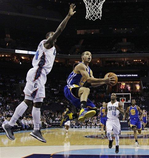 Curry scores 27 as Warriors beat Bobcats 104-96