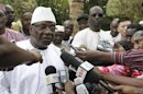 Presidential candidate Ibrahim Boubacar Keita speaks at a news conference during Mali's presidential election in Bamako