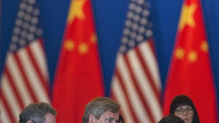 U.S. Agriculture Secretary Vilsack speaks during the opening meeting session of the 24th China-U.S. Joint Commission on Commerce and Trade at Diaoyutai State Guesthouse in Beijing