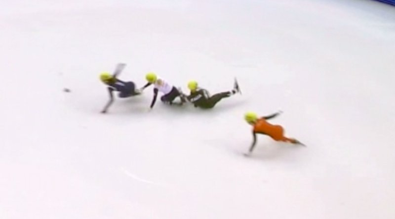 speedskating crash 2