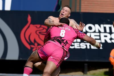 Watch this streaker get obliterated by a rugby player