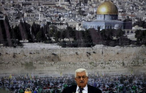 Palestinian president Mahmud Abbas, pictured on November 16