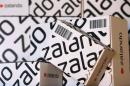 Parcels of Europe's biggest online fashion retailer Zalado are pictured during a media presentation in Berlin