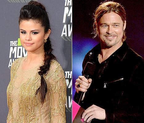"Selena Gomez Gets Nervous Meeting Brad Pitt: ""I Hid Under a Table"""