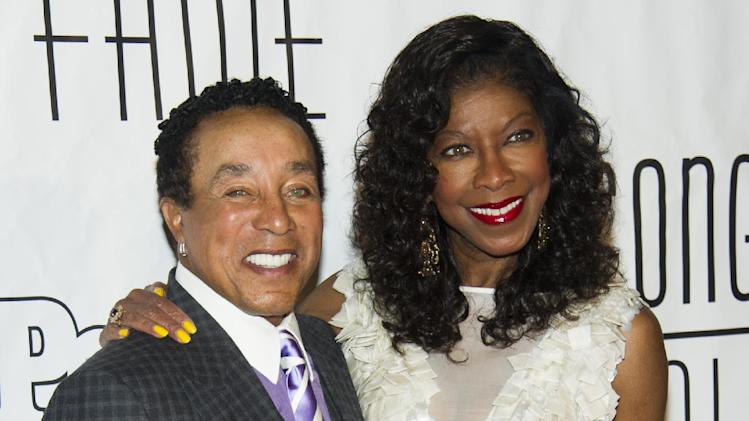 Smokey Robinson and Natalie Cole attend the Songwriters Hall of Fame 44th annual induction and awards gala on Thursday, June 13, 2013 in New York. (Photo by Charles Sykes/Invision/AP)