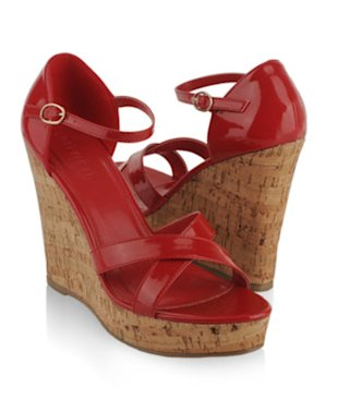 Criss Cross Platform Wedges