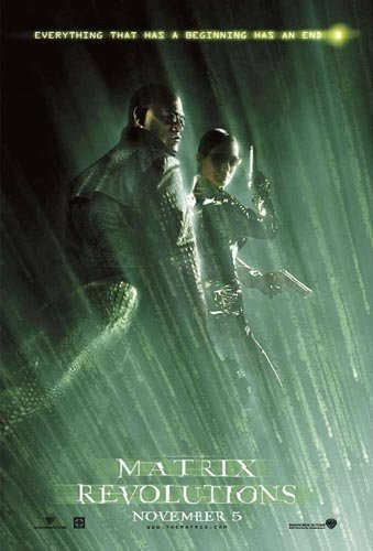 Laurence Fishburne and Carrie Anne Moss in Warner Brothers' The Matrix: Revolutions