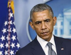 U.S. President Obama speaks about situation in Ukraine from the White House in Washington