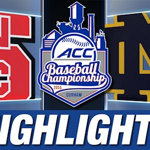 NC State vs Notre Dame | 2015 ACC Baseball Championship Highlights