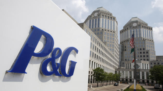 FILE - This Aug. 2, 2010, file photo, shows the Procter & Gamble Co. headquarters building in Cincinnati. On Friday, Oct. 25, 2013, Procter & Gamble said its first-quarter net income rose 8 percent as world's largest consumer sold more of its detergent and diapers globally and cut costs. The results were in line with Wall Street expectations. (AP Photo/Al Behrman, File)