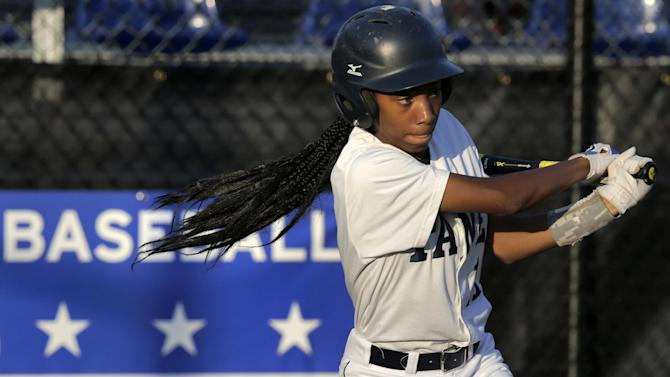 1st female Little League player happy for 2 girls