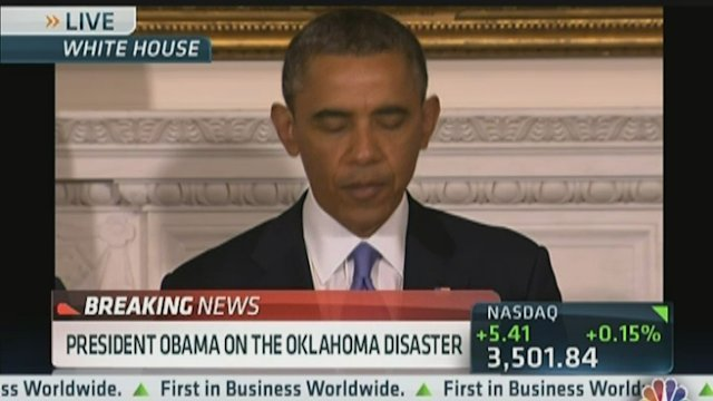 Pres. Obama on Oklahoma Disaster