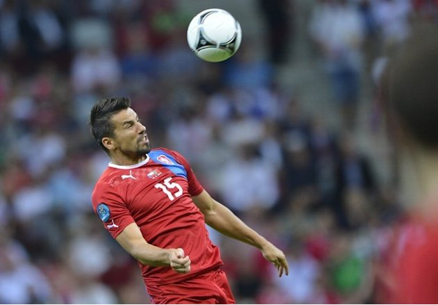 Czech forward Milan Baros …