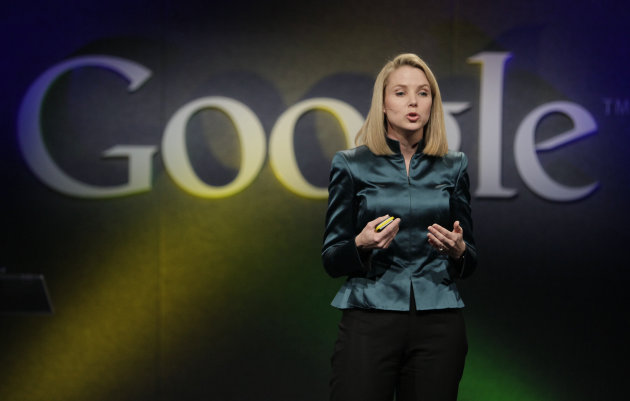 FILE- In this Monday, Dec. 7, 2009, file photo, Marissa Mayer, VP of Search Products and User Experience for Google, speaks in Mountain View, Calif. Yahoo announced Monday, July 16, 2012, it is hiring