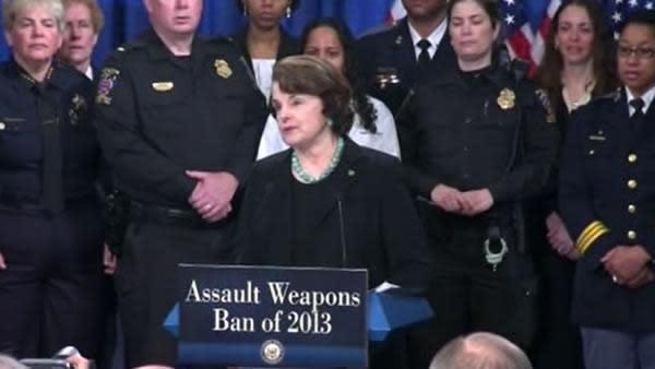 Sen. Feinstein reintroduces assault weapons ban