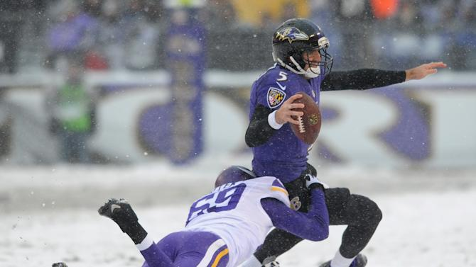 Ravens rally past Vikings 29-26 on icy field