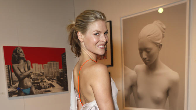 Ali Larter attends the LA Art Show hosted by Ali Larter and Hayes MacArthur Benefiting the Art of Elysium at the LA Convention Center on Wednesday, Jan. 23, 2013, in Los Angeles. (Photo by Todd Williamson/Invision/AP)