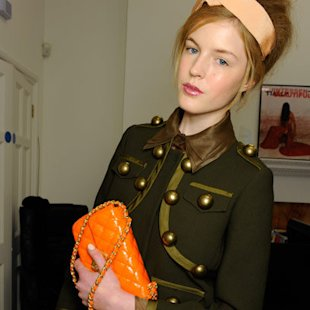 Moschino Cheap and Chic AW12 Backstage: Quilted Bags