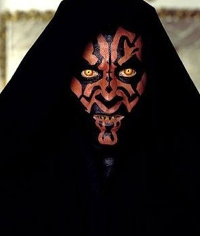Ray Park as the fearsome Darth Maul in 20th Century Fox's Star Wars: Episode I - The Phantom Menace - 1999