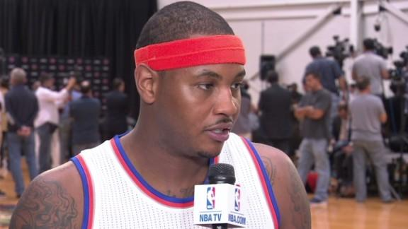 Carmelo Anthony Media Day Interview