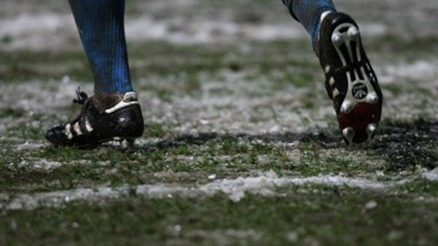 Football generic frozen pitch