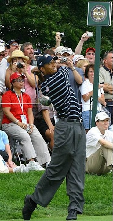 Tiger Woods Shoots Mediocre 71 in Round 1 at Quail Hollow, Has to Show More