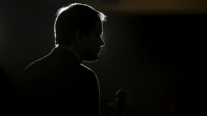U.S. Republican presidential candidate Marco Rubio speaks during a campaign event in Myrtle Beach
