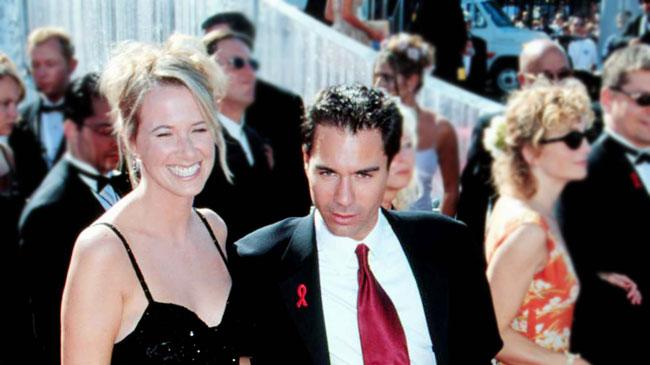 Eric McCormack and wife, Janet Holden at The 51st Annual Emmy Awards.