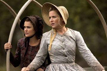 Keri Russell and Jessica Capshaw TNT's Into the West