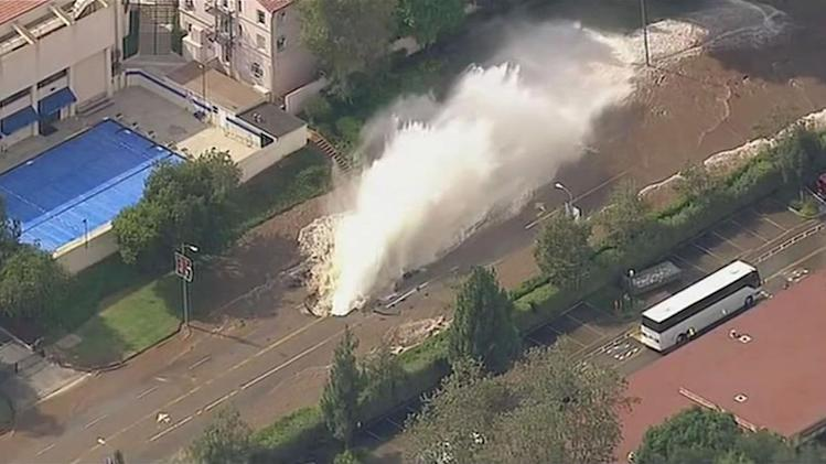 Pipe flooding at UCLA will take hours to shut off