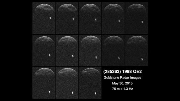 Approaching Asteroid 1998 QE2 Has a Moon, Images Reveal