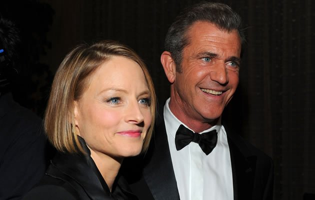 Director Jodie Foster with Mel Gibson (Getty Images)