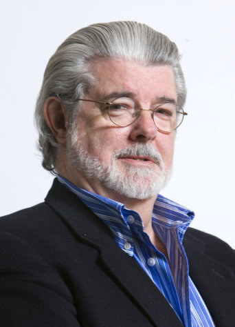 FILE - In this March 13, 2008, file photo, director/producer George Lucas poses for portrait in Las Vegas. The Northern California city of San Anselmo has approved a new downtown park to be built on land donated by Lucas that will feature statues of Indiana Jones and Yoda, two of his most popular characters. (AP Photo/Matt Sayles, File)
