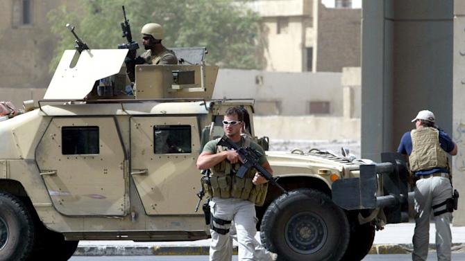Contractors of the US private security firm Blackwater