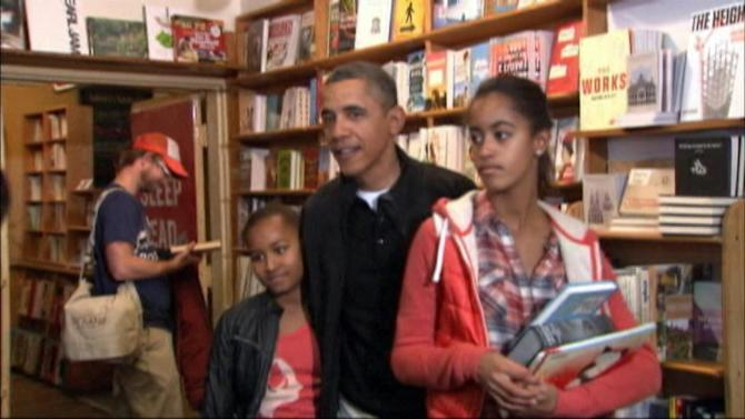 Obama daughters, Sasha and Malia, more poised, taller than four years ago