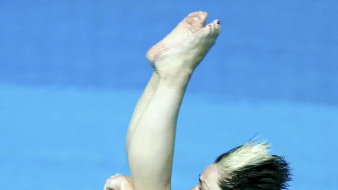 Subschinski of Germany jumps during the women's 3m springboard semi-final at the Aquatics World Championships in Kazan