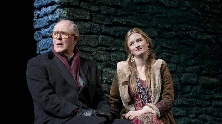 "In this theater image released by Boneau/Bryan-Brown, John Lithgow portrays columnist and political pundit Joseph Alsop, left, and Grace Gummer portrays Abigail in a scene from the play ""The Columnist,"" playing at the Samuel J. Friedman Theatre in New York. (AP Photo/Boneau/Bryan-Brown, Joan Marcus)"