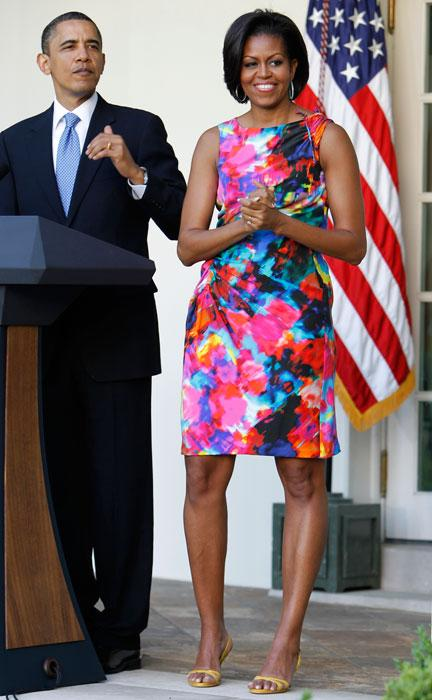 President Barack Obama and first lady Michelle Obama attend a celebration of Cinco de Mayo in the Rose Garden of the White House in Washington, Wednesday, May 5, 2010
