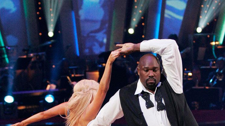 Kym Johnson and Warren Sapp perform a dance on the seventh season of Dancing with the Stars.