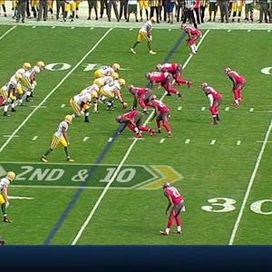 Green Bay Packers quarterback Aaron Rodgers fumbles, Tampa Bay Buccaneers recover