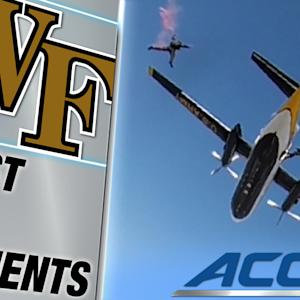 Army Sky Team Descends on Wake Forest's Football Stadium | ACC Must See Moment