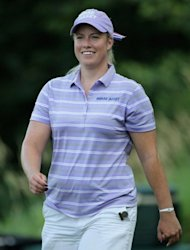 Brittany Lincicome, pictured as she walks off the ninth tee during the first round of the 2012 US Women's Open, on July 5, at Blackwolf Run in Kohler, Wisconsin. Cristie Kerr, Lincicome and LPGA rookie Lizette Salas each fired a three-under par 69 to share the lead after the first round