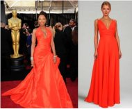 Orange celebrity-inspired evening gown by Faviana Couture $238