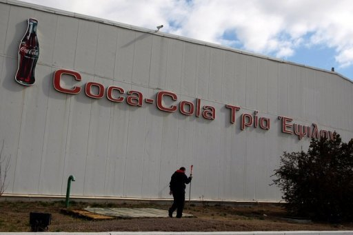 &lt;p&gt;A man walks by a Coca-Cola factory in Thessaloniki, Greece, in February, 2012. Efforts to restore investor confidence in Greece&#39;s struggling economy took a double blow this week when a major European bottler and a prominent dairy company announced relocation plans.&lt;/p&gt;