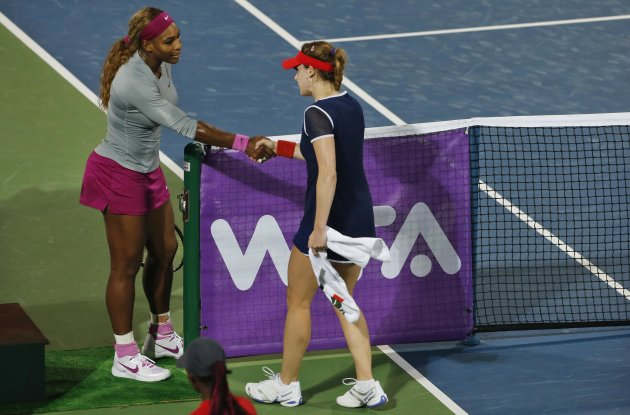 Cornet and Williams met in Dubai this year, with the Frenchwoman coming out the winner.