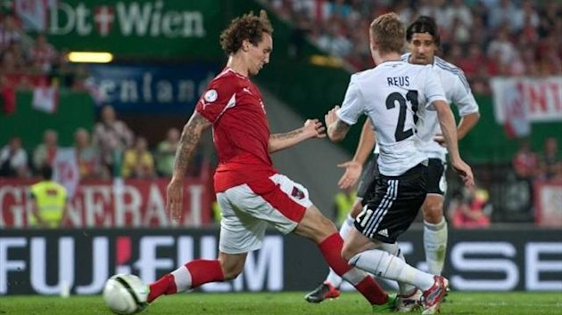 Marco Reus scores for Germany against Austria