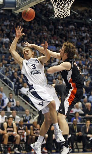 Davies leads BYU to 90-71 win over Mercer in NIT