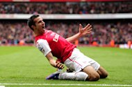 Robin van Persie is out of contract with Arsenal next summer