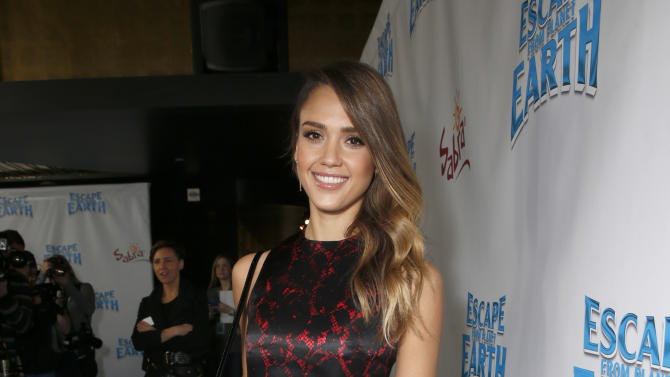 """Jessica Alba attends the LA premiere of """"Escape from Planet Earth"""" at the Chinese Theater on Saturday, Feb. 2,2013 in Hollywood. (Photo by Todd Williamson/Invision/AP Images)"""