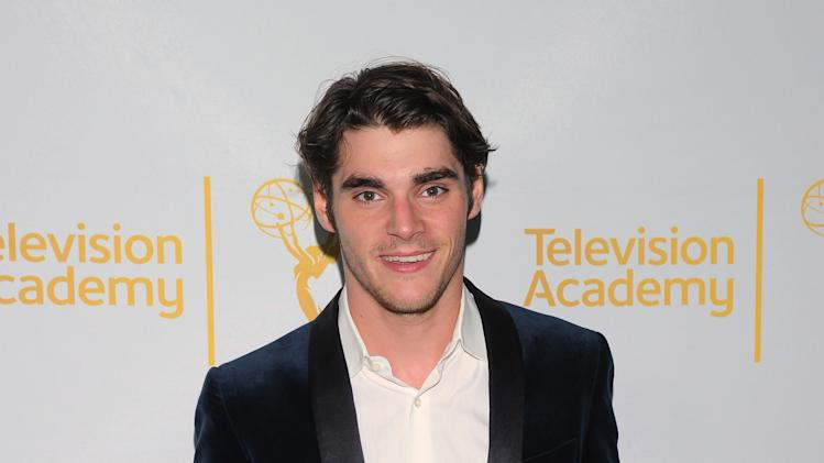IMAGE DISTRIBUTED FOR THE TELEVISION ACADEMY - RJ Mitte arrives at the Television Academy's 66th Emmy Awards Writers Nominee Reception on Thursday, Aug. 21, 2014, at the Television Academy in the NoHo Arts District of Los Angeles . (Photo by Vince Bucci/Invision for the Television Academy/AP Images)
